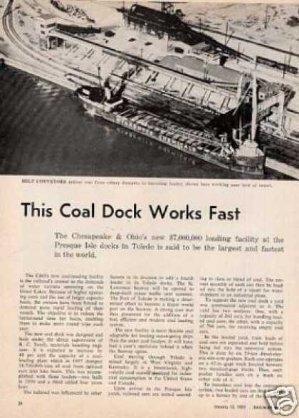"""""""This Coal Dock Works Fast"""" Article/c&o-pre (1959)"""