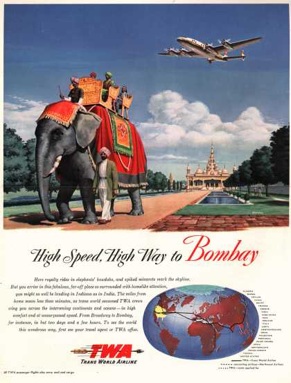 Trans World Airline's Bombay – High Speed, High Way to Bombay (1947)