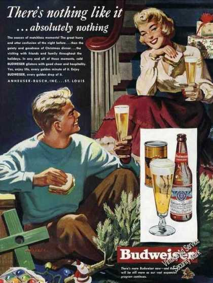 Budweiser There's Nothing Like It Cassell Art (1949)