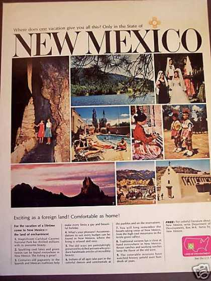 New Mexico Land of Enchantment Vacation Travel (1965)