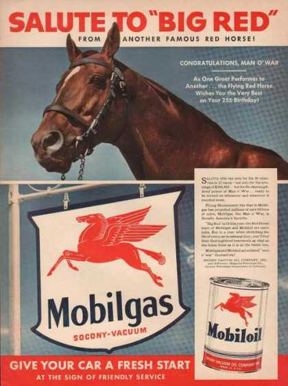 Salute To Big Red Mobil Gas Fresh Car Star (1942)