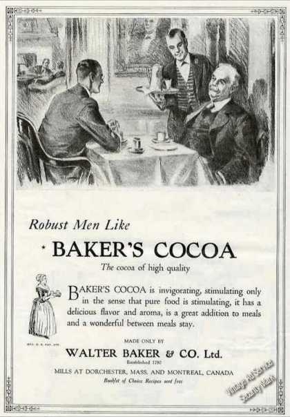 Robust Men Like Baker's Cocoa Collectible (1924)