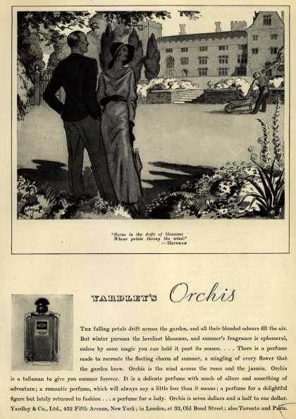 Yardley & Co., Ltd.'s Orchis perfume – Yardley's Orchis (1931)