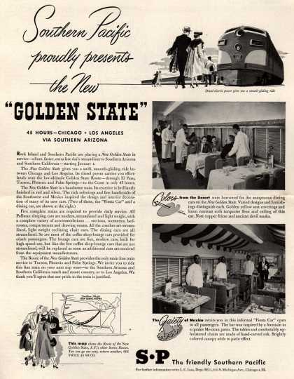 """Southern Pacific – Southern Pacific proudly presents the New """"Golden State"""" (1948)"""