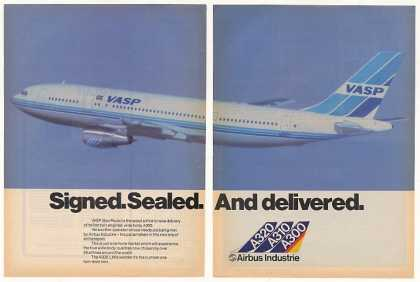 Vasp Airlines Airbus A300 Airplane Aircraft 2-P (1982)