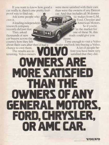 Volvo Car – Volvo Owners are more Satisfied (1977)