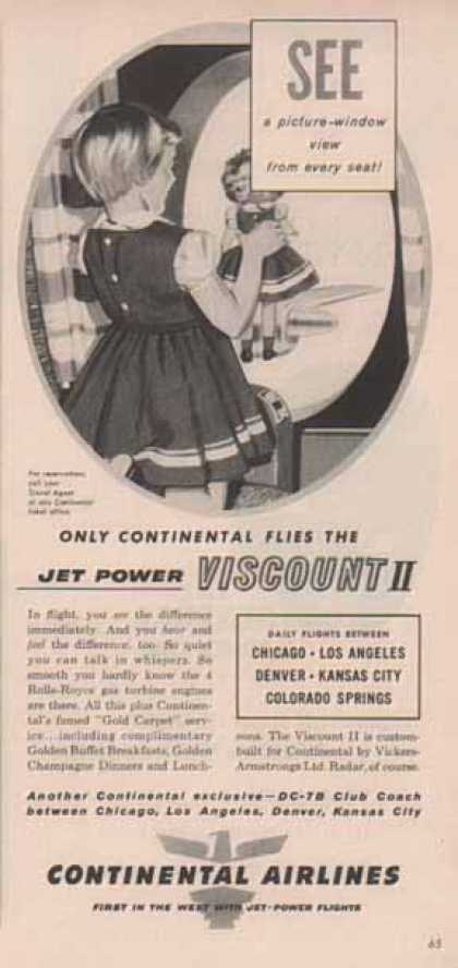 Continental Airlines – Jet Power Viscount II – Sold (1958)