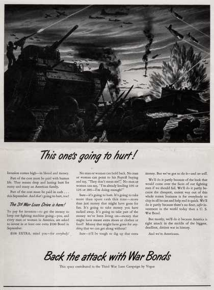 U. S. Treasury Dept.'s 3rd War Loan Drive – This One's Going To Hurt (1943)