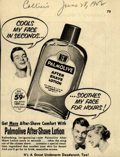 Palmolive Company's Palmolive After Shave Lotion – Cools My Face In Seconds (1952)