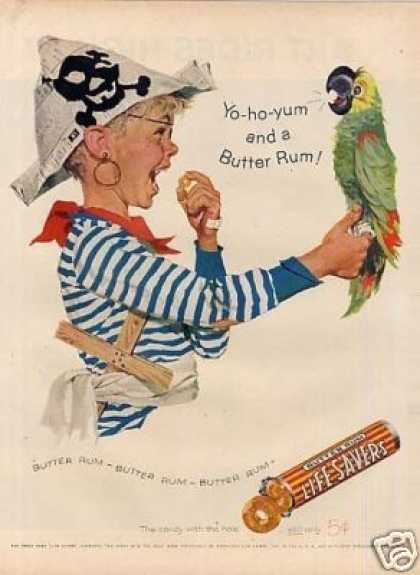 Life Savers Butter Rum Candy (1957)