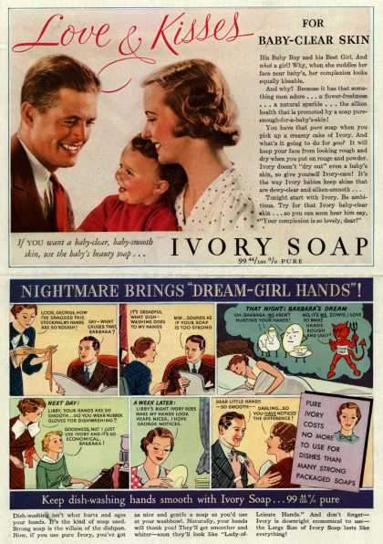 Procter & Gamble Co.'s Ivory Soap – Love & Kisses for Baby-Clear Skin (1935)