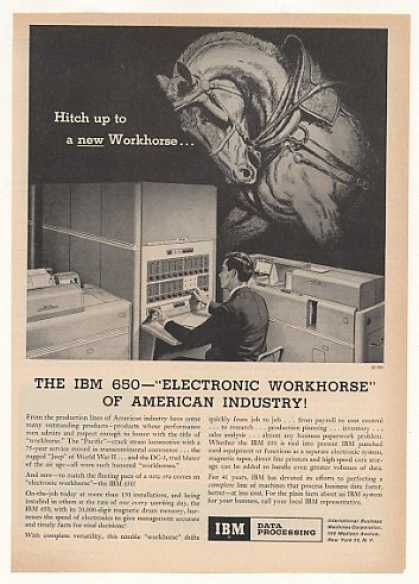 IBM 650 Computer System Electronic Workhorse (1955)