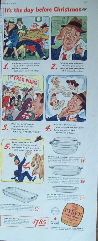 Pyrex Oven Ware Dishes Cartoon (1944)