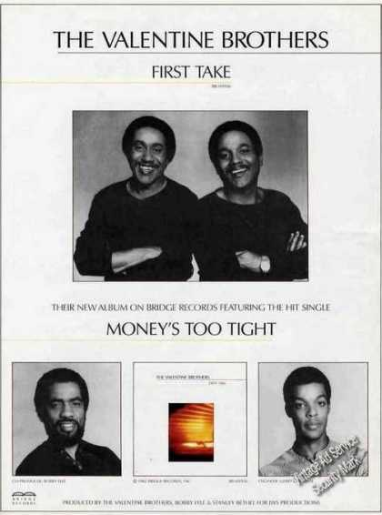 """The Valentine Brothers """"First Take"""" Music (1982)"""