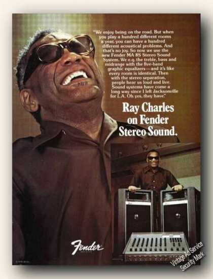 Ray Charles Photos Fender Stereo Sound (1979)