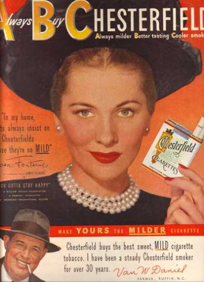 Chesterfield – Joan Fontaine (1949)