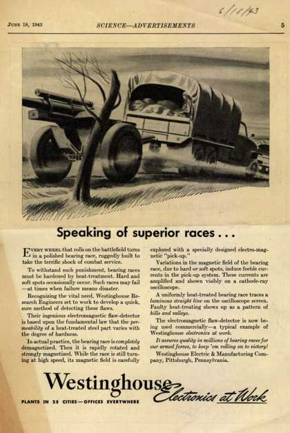 Westinghouse Electric & Manufacturing Company's Electronics – Speaking of Superior Races... (1943)