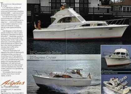 Alglas By Pacemaker Multiple Boat Photos (1967)