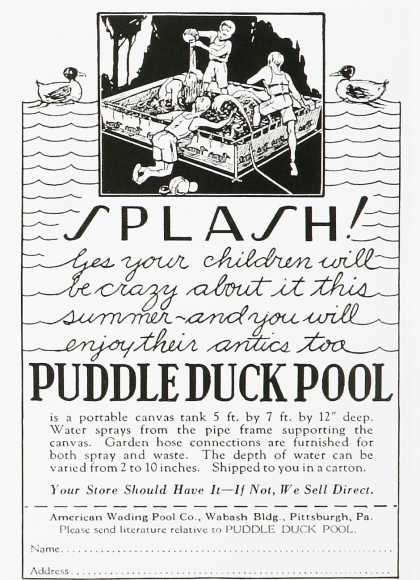 Puddle Duck Pool