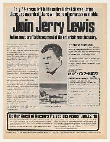 Jerry Lewis Cinema Investment Opportunity (1971)