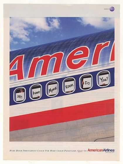 American Airlines We Have More Room Coach Jet (2001)
