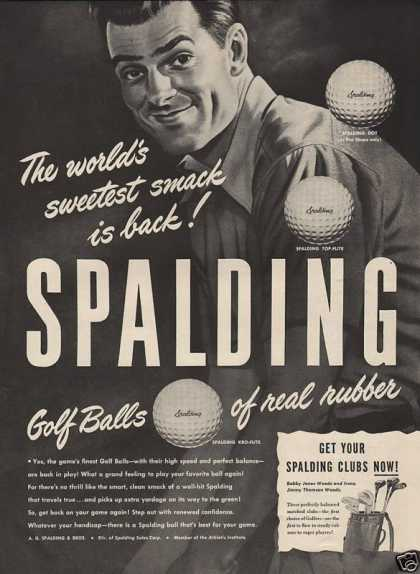 Spalding Golf Balls of Real Rubber (1946)