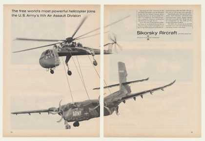 US Army Sikorsky S-64 Helicopter Photo (1964)
