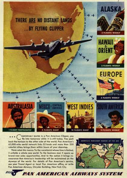 Pan American Airways System's Flying Clipper – There Are No Distant Lands... By Flying Clipper (1941)