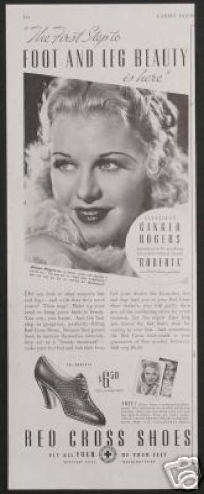 Ginger Rogers Photo Red Cross Shoes Vintage (1935)