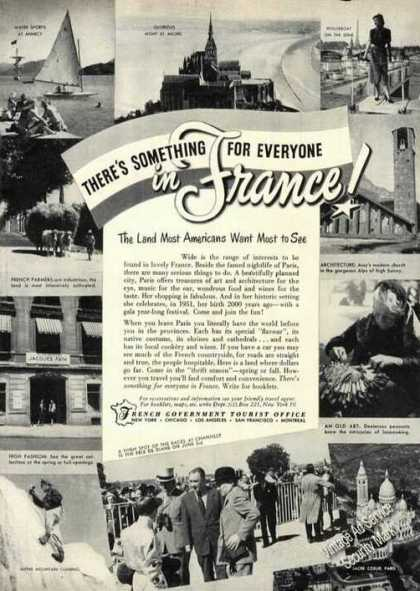 Something for Everyone In France Nice Photos (1951)