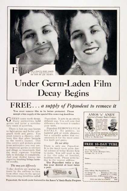 Pepsodent Toothpaste (1930)