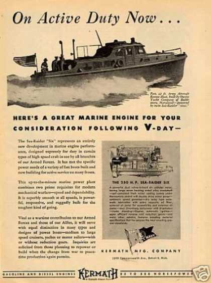 Kermath Ad 42ft Army Aircraft Rescue Boat (1944)