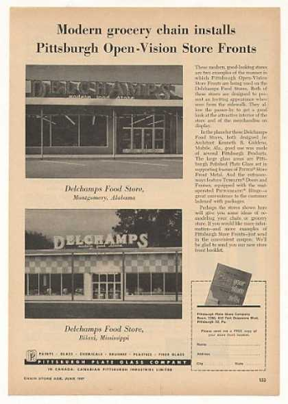 '57 Delchamps Food Store AL MS PPG Glass Store Front (1957)