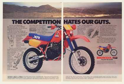 Honda XR600R Motorcycle Competition Hates (1985)