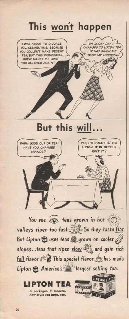 This Wont Happen But This Will Lipton Tea (1942)