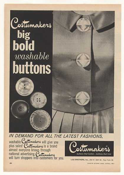 '61 Lidz Brothers Costumakers Washable Buttons Trade (1961)