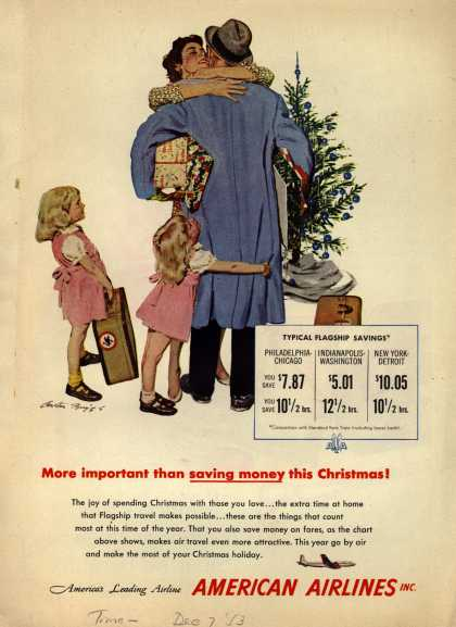 American Airline's Holiday / Business Travel – More important than saving money this Christmas (1953)