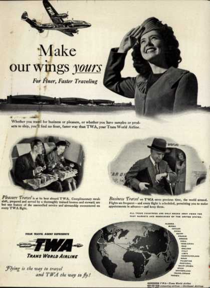 Trans World Airline – Make our wings yours (1947)