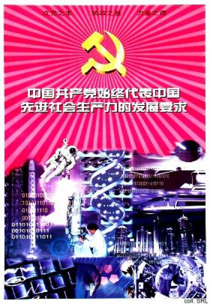 The Chinese Communist Party represents throughout the requirements in the development of advanced productive forces in China (2001)