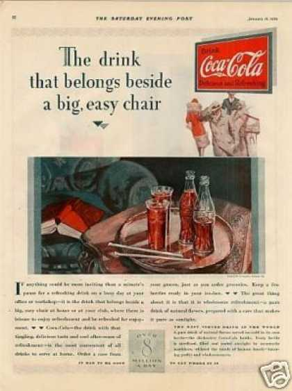 """Coca-cola Ad """"The Drink That Belongs... (1929)"""