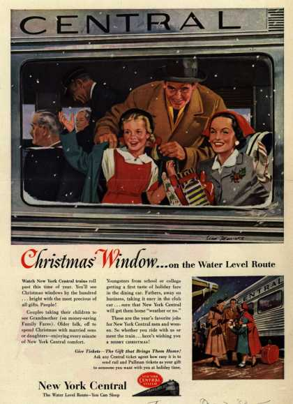 New York Central System's Water Level Route – Christmas Window...on the Water Level Route (1953)
