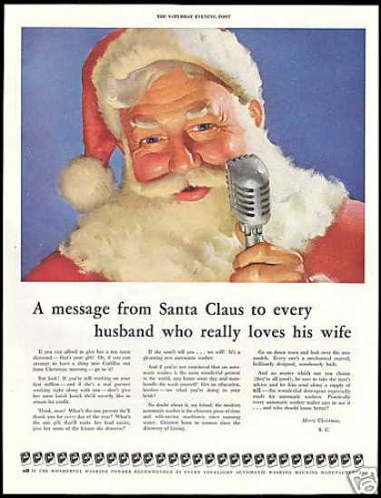 Santa Message Give Washing Machine to Wife All (1952)