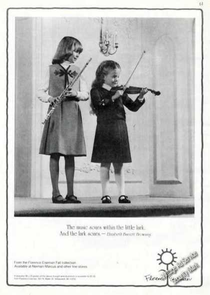 Young Girls Flute/violin Florence Eiseman (1981)