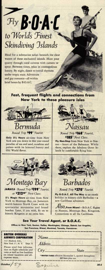 British Overseas Airways Corporation's Vacation Travel – Fly BOAC to World's Finest Skindiving Islands (1954)