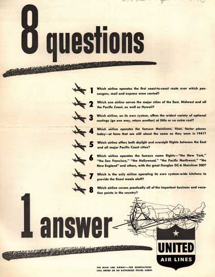 United Air Lines – 8 questions 1 answer (1948)