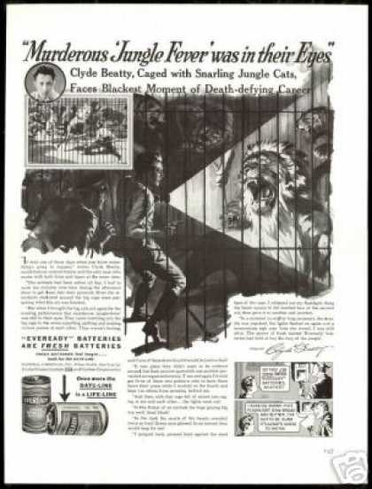 Clyde Beatty Lion Trainer Circus Eveready (1938)