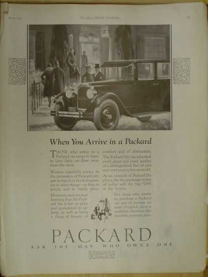 Packard Automobile Ask the man who owns one (1926)