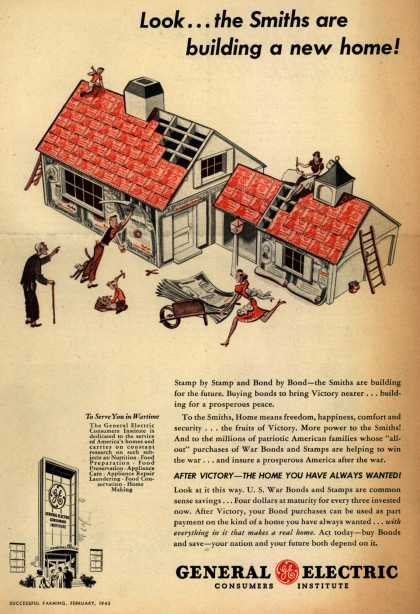 General Electric's War Bonds – Look... the Smiths are building a new home (1943)