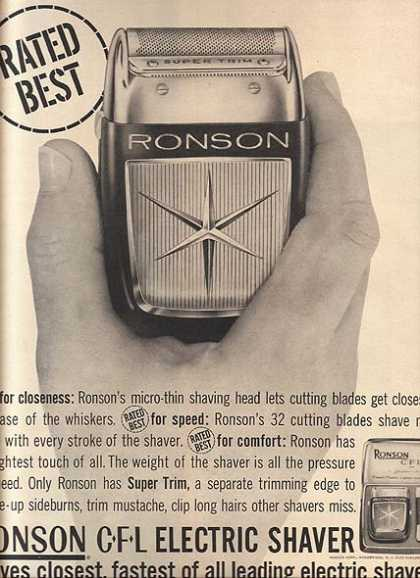 Ronson's CFL Electric Shaver (1960)