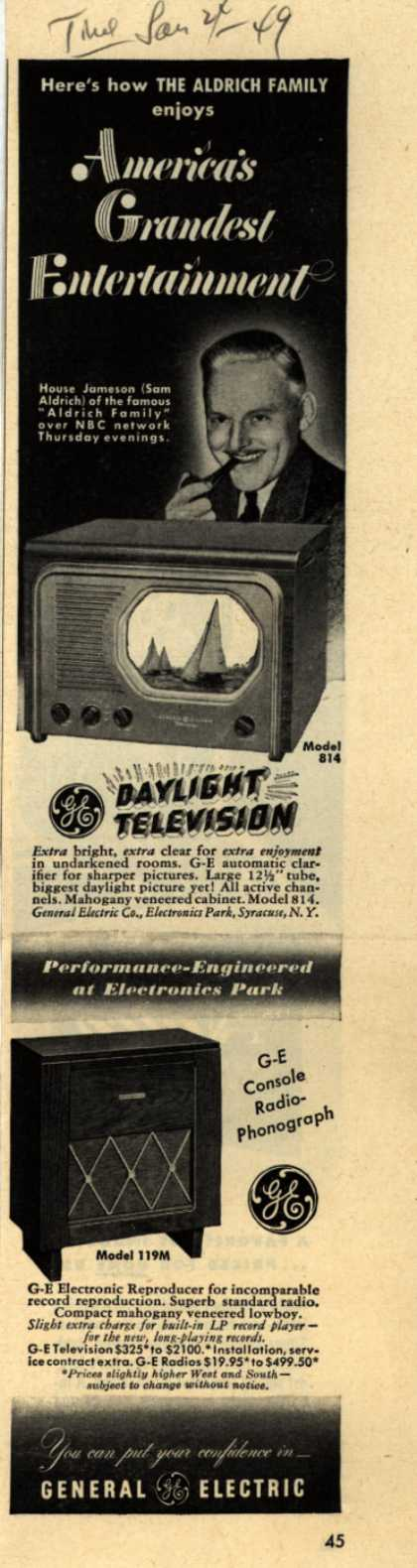 General Electric Company's Daylight Television – Here's how the Aldrich Family enjoys America's Grandest Entertainment (1949)